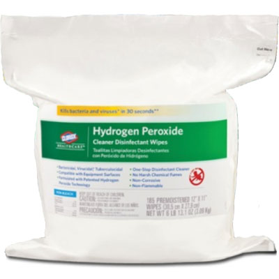 Clorox hydrogen peroxide wipes 185 bag 11 x 12 non bleach cleaner dental supplies - Unknown uses hydrogen peroxide ...